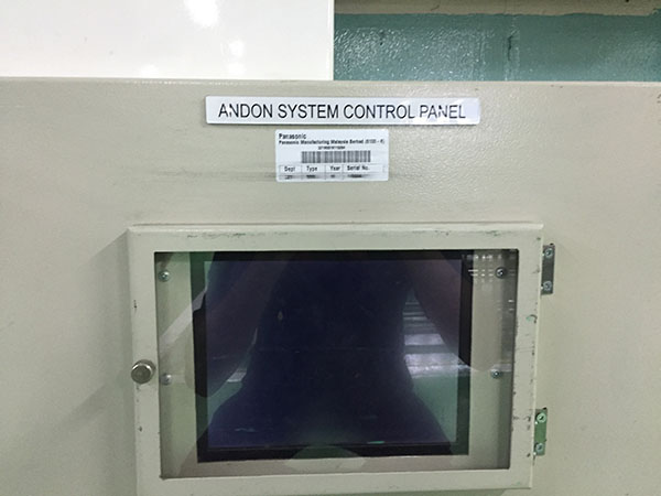 Andon system control panel